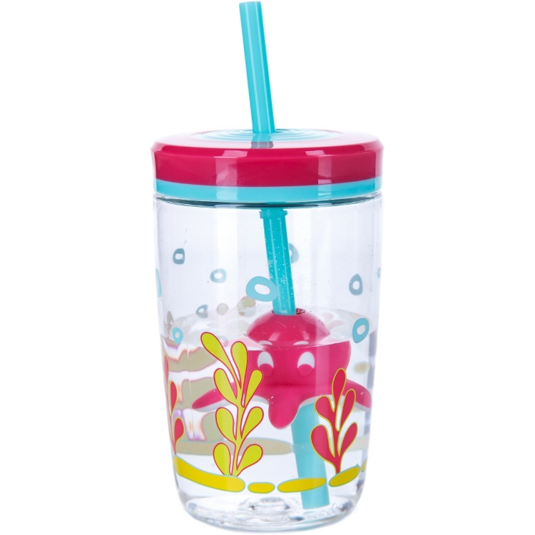 Детский стакан Floating straw tumbler